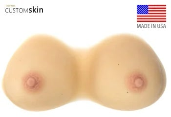 Breast Forms with Realistic Skin